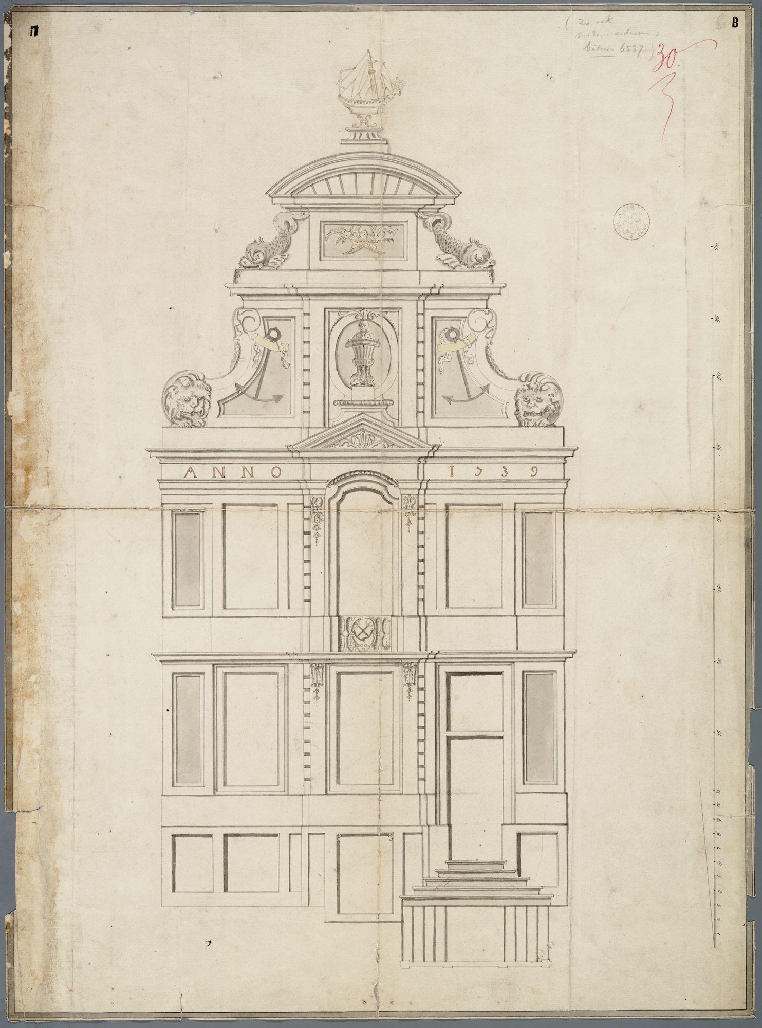 Gent: Korenlei, 1740: opstand gevel