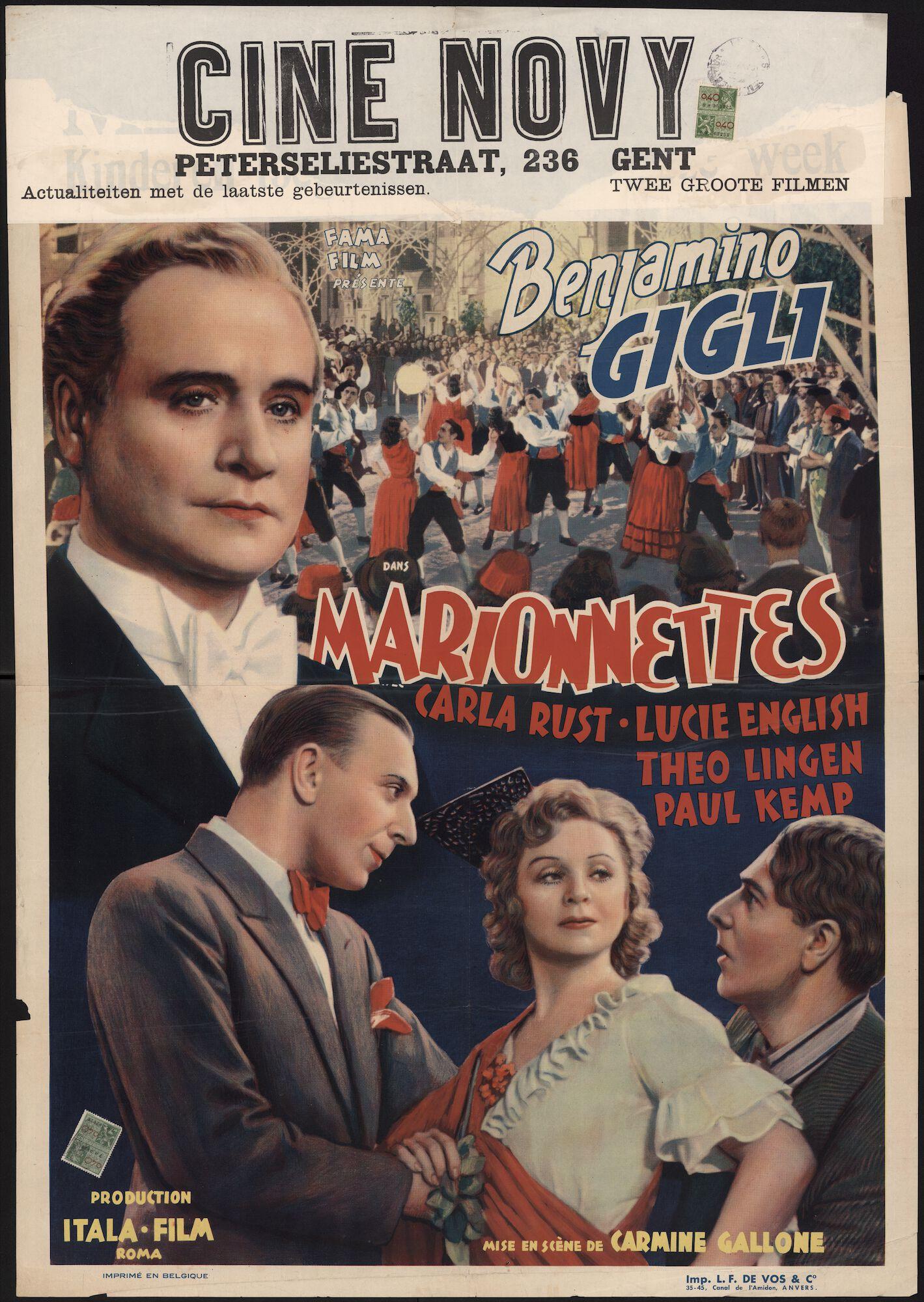 Marionnettes, Novy, Gent, april 1940
