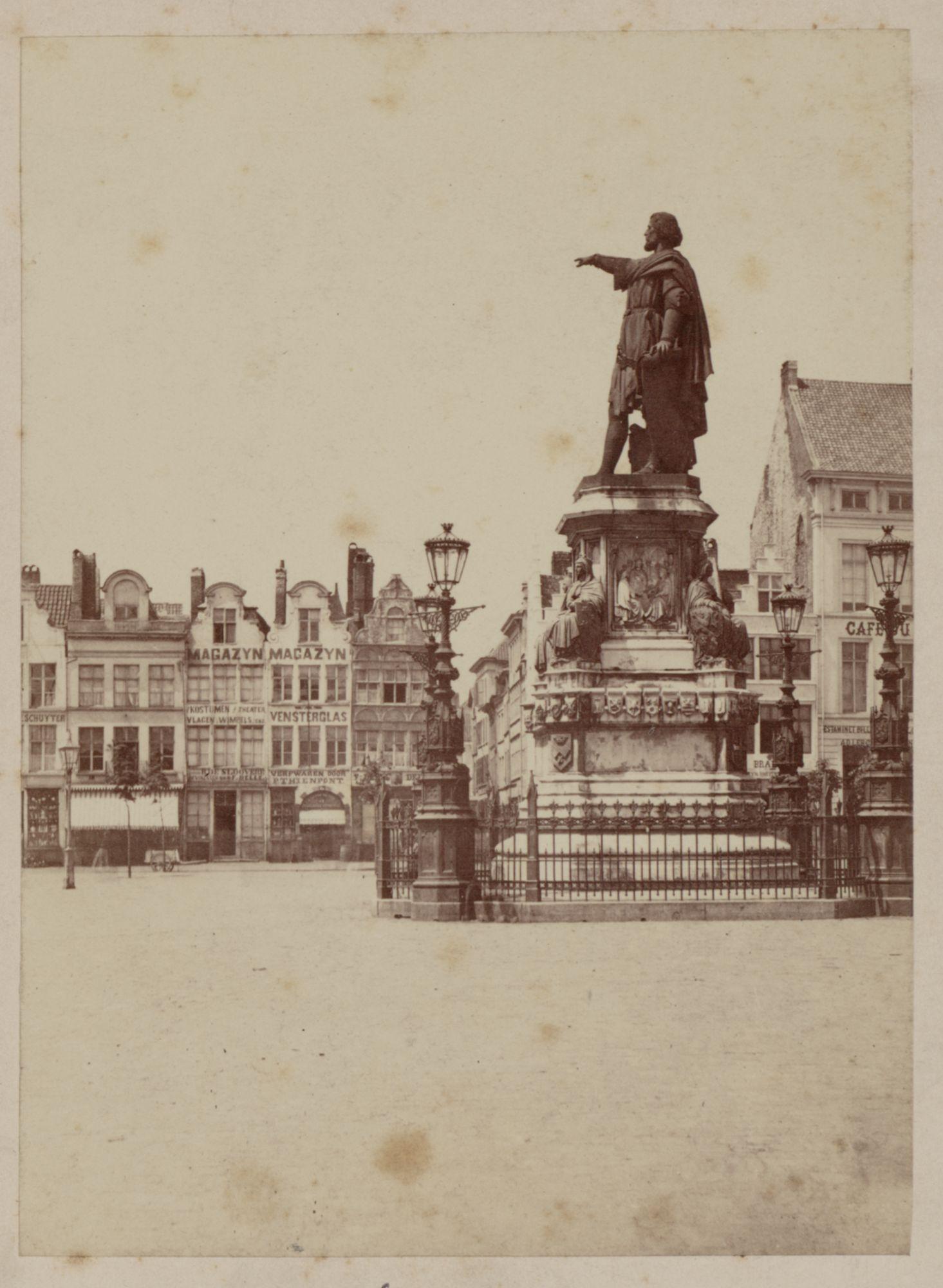 Gent: Vrijdagmarkt, standbeeld Jacob van Artevelde