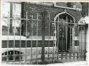 Gent: Ekkergemstraat 203: pastorij: hek, 1979