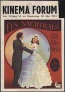 Una romantica avventura | Een nachtwals, Forum, Gent, 14 - 20 mei 1943