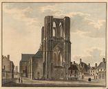 Gent: Sint-Michielskerk (westgevel) en Sint-Michielsplein