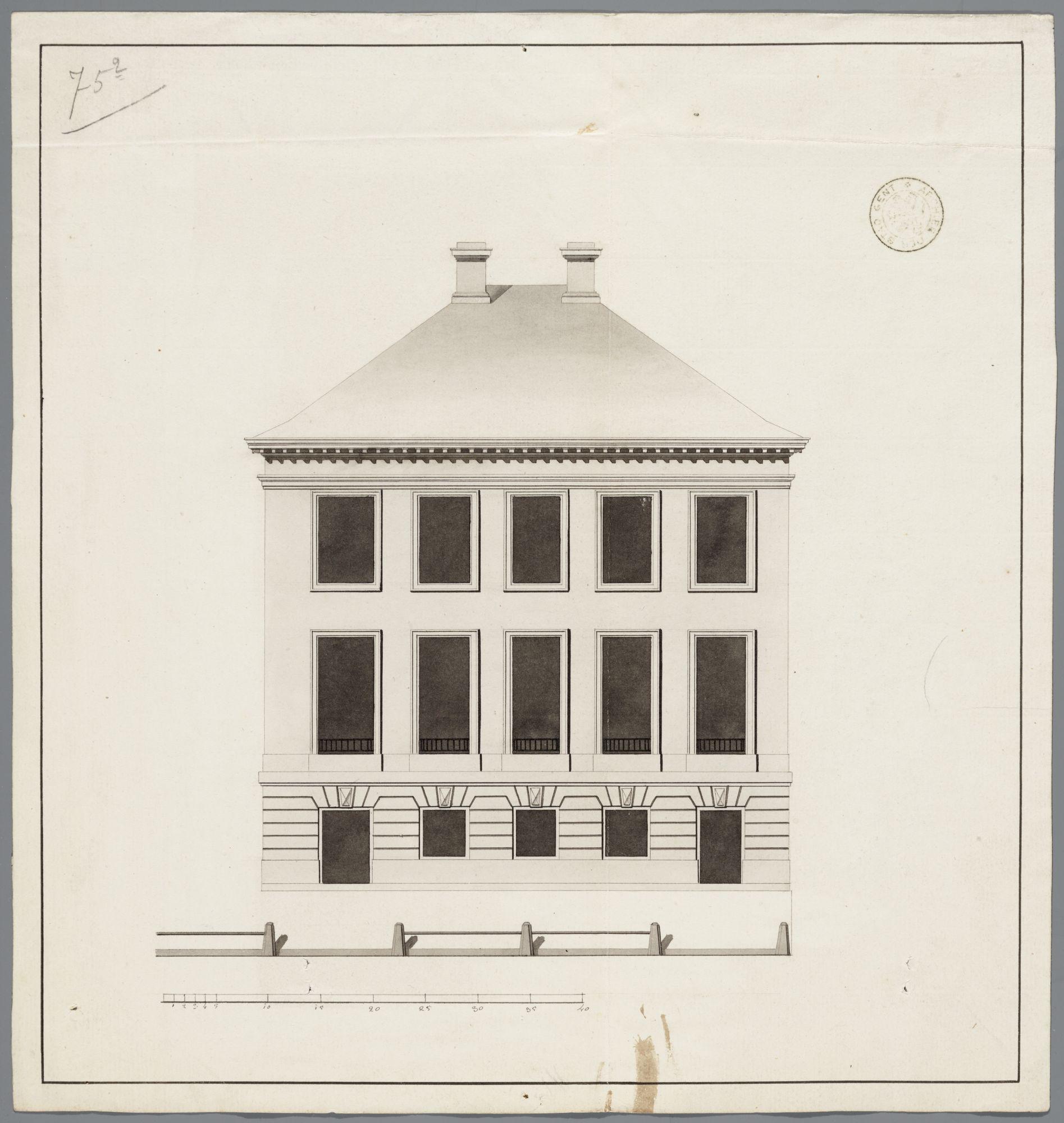 Gent: Zonnestraat, 1793: opstand gevel