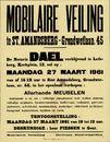 Mobilaire veiling te Sint-Amandsberg, Grondwetlaan, nr.45, 27 maart 1961