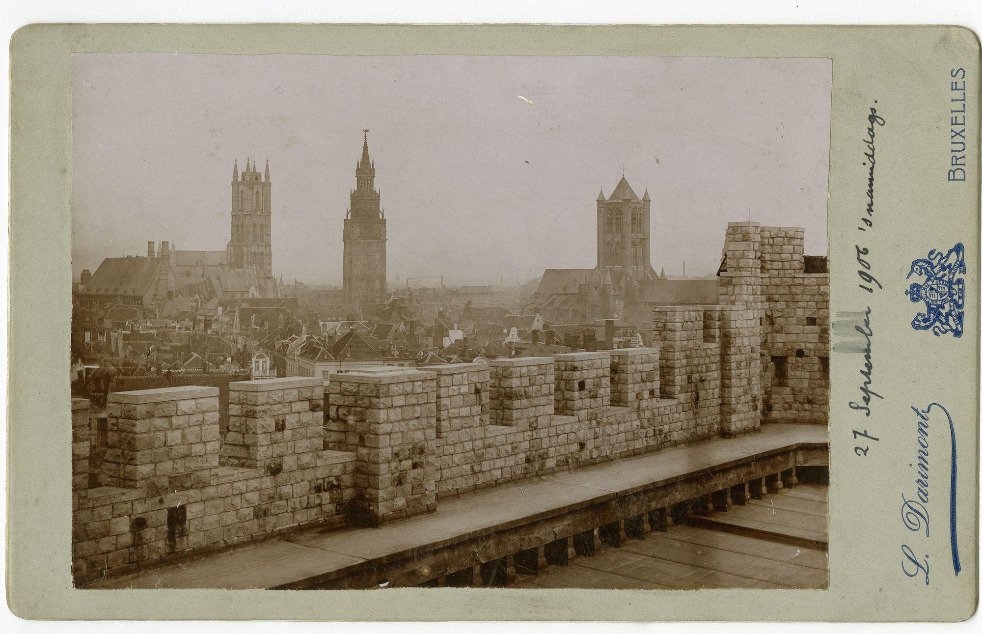 Gent: Gravensteen, platform met zicht op de drie torens