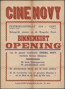 Belangrijk nieuws op de Brugsche Poort. Binnenkort opening van de gansch vernieuwde cinema Novy, voorheen cinema Alhambra, 14 september 1939