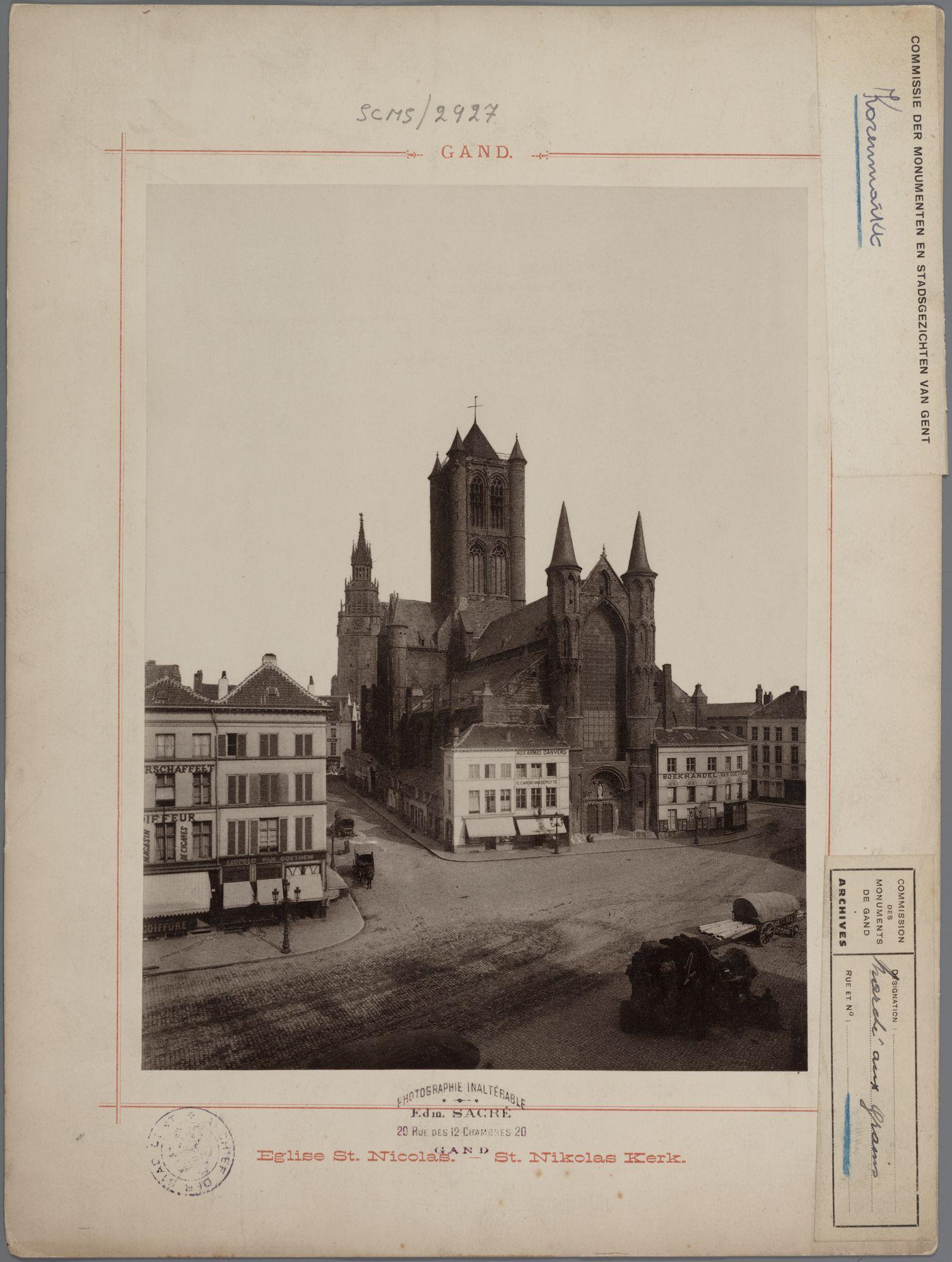 Gent: Korenmarkt: Sint-Niklaaskerk