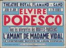 Elvire Popesco, Théâtre Royal Flamand-Gand (Opera), Gent, 19 juni 1947