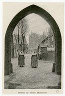 Gent: Sint-Amandsberg. Groot Begijnhof, ingangspoort en kerk