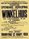 Vrijwillige openbare verkoop van een welgelegen winkelhuis Van Lokerenstraat, nr.29 te Ledeberg, Gent, 12 maart 1959