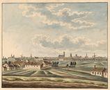 Gent: Panoramisch zicht op Gent vanaf de Heernis (Heirnis)
