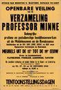 Openbare veiling van de verzameling professor Minne, Gent, 26, 27, 28 en 29 oktober 1960