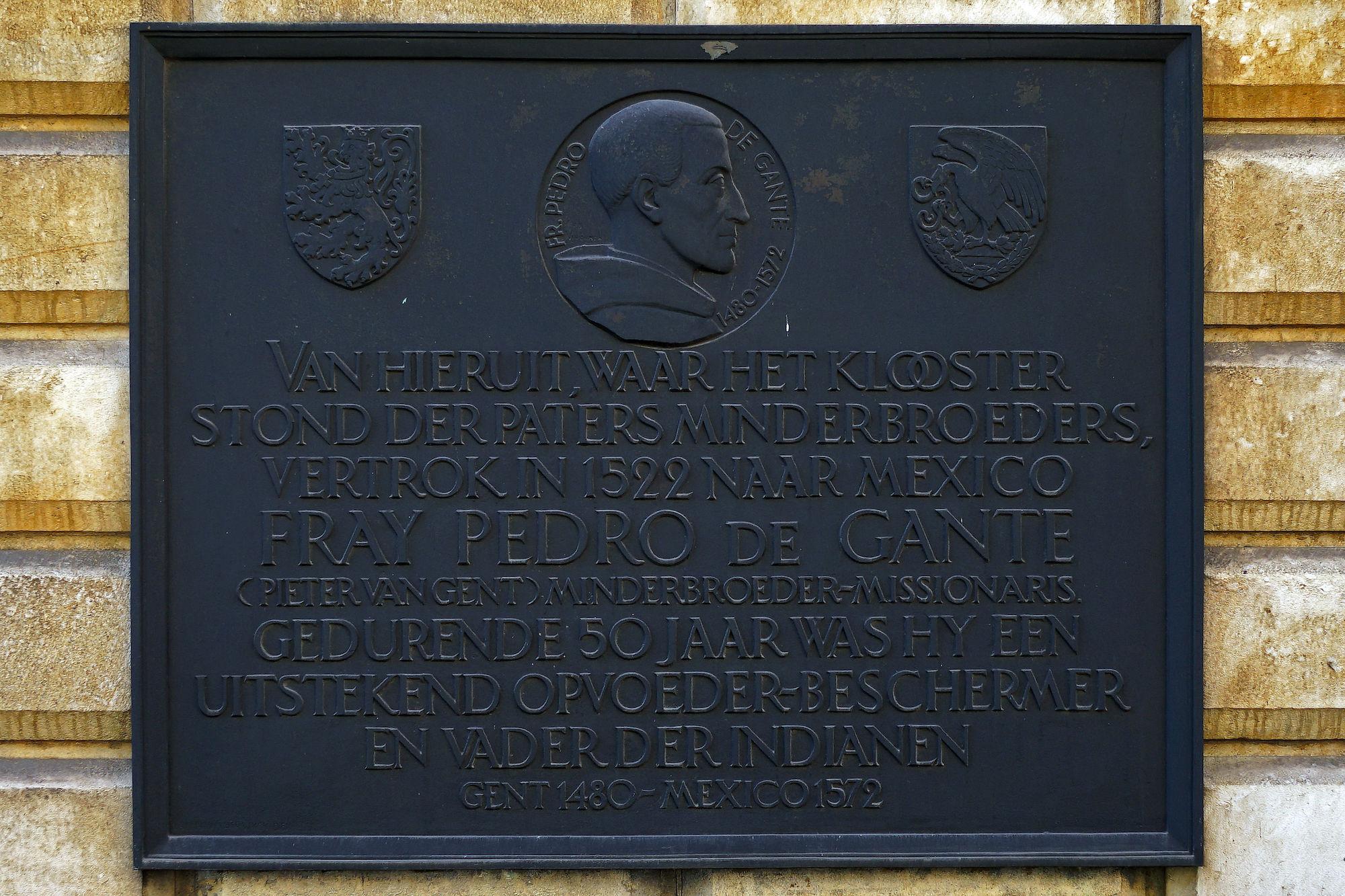 Gedenkplaat - Pieter van Gent