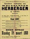 Openbare verkoop van welgelegen herbergen te Gent, 24 maart 1959