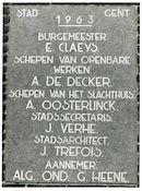 Gent: Gandastraat: Gedenksteen, 1980