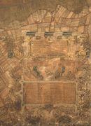 Oostakker, grotendeels bedekt met cartouches: kaartdeel 03 (XV) Kaart van Gent en het Vrije van Gent afgebakend door de Rietgracht, Jacques Horenbault, 1619