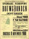 Openbare verkoop van bouwgronden te Oostakker, Invaliedenstraat (Invalidenstraat) en Goedlevenstraat (Lourdes), Gent, 8 november 1960