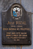 Gedenkplaat - José Rizal