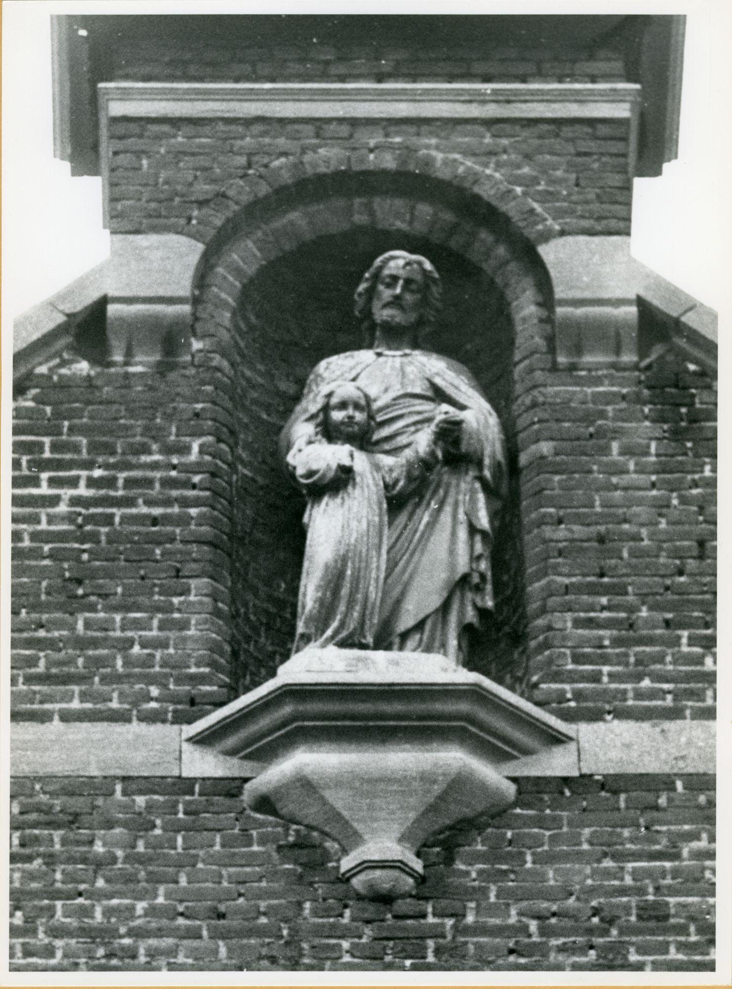 Gent: Stropkaai 38: Gevelbeeld, 1979