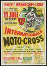 Internationale Moto-Cross, Match Engeland-België, Gemeente Wannegem-Lede en A.M.C. Oudenaarde, Supportesclub Huise in het Vijverpark, 11 juli 1954