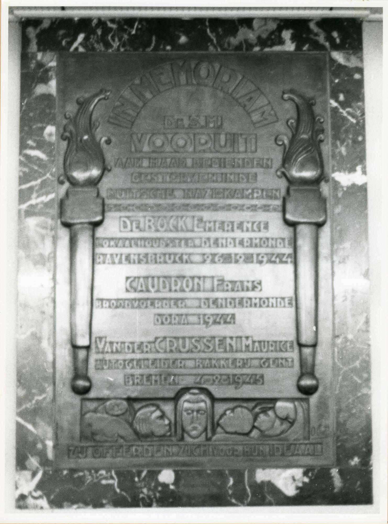 Gent: Sint Pietersnieuwstraat 23: Gedenkplaat, 1980