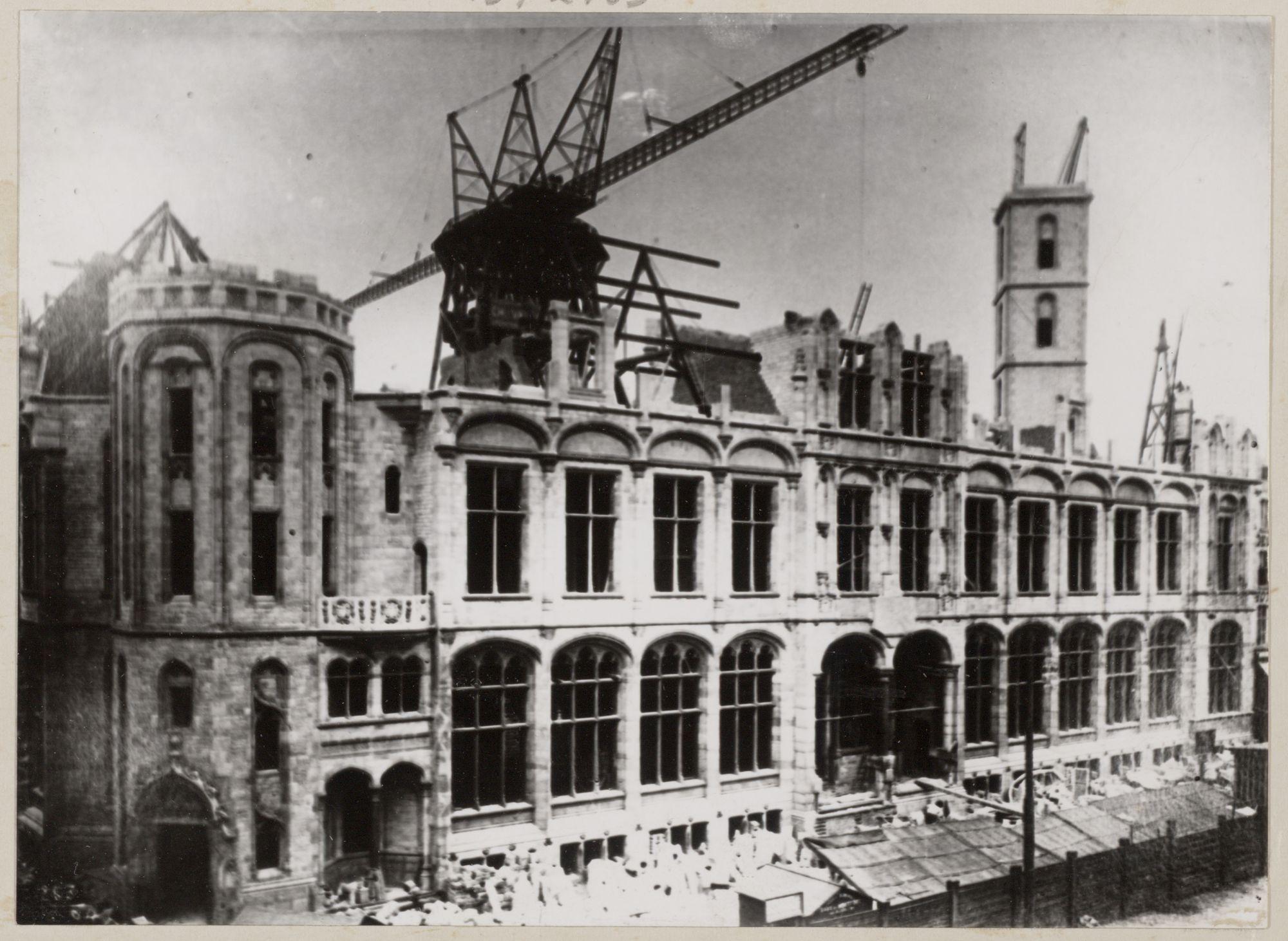 Gent: Bouw nieuw postgebouw, Korenmarkt