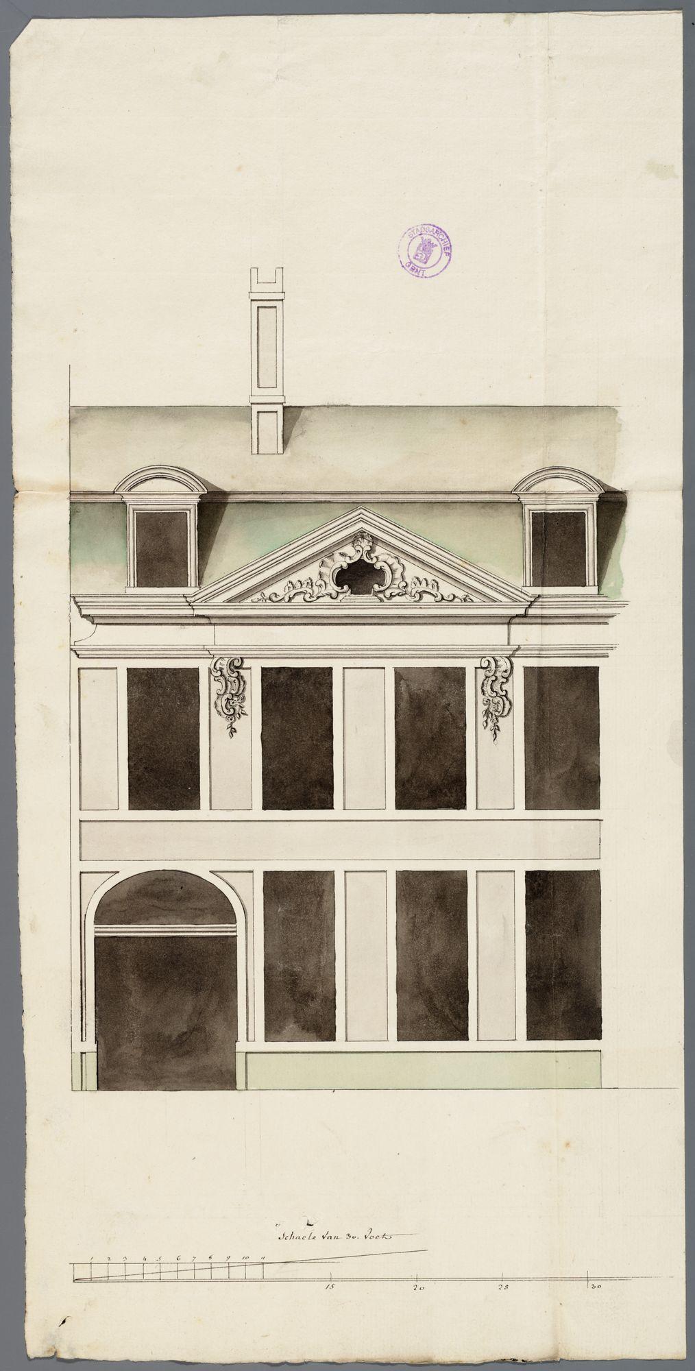 Gent: Sint-Pietersnieuwstraat, 1770: opstand gevel