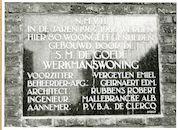 Gent: Gebroeders de Smetstraat 27: gedenkplaat: Goede Werkmanswoning, 1979