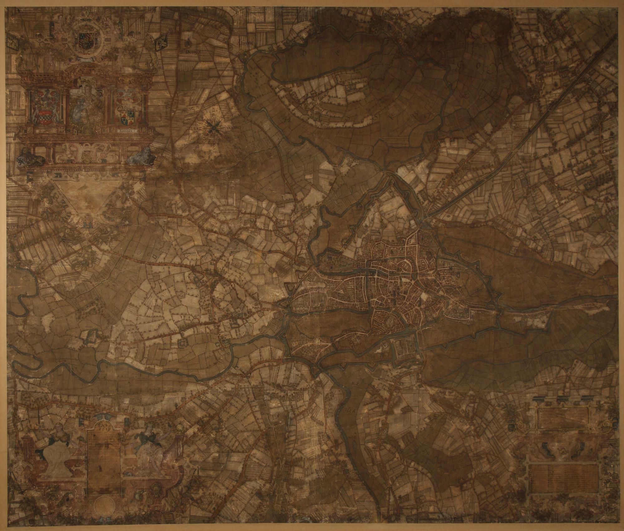 Kaart van het Vrije van Gent, Jacques Horenbault, 1619