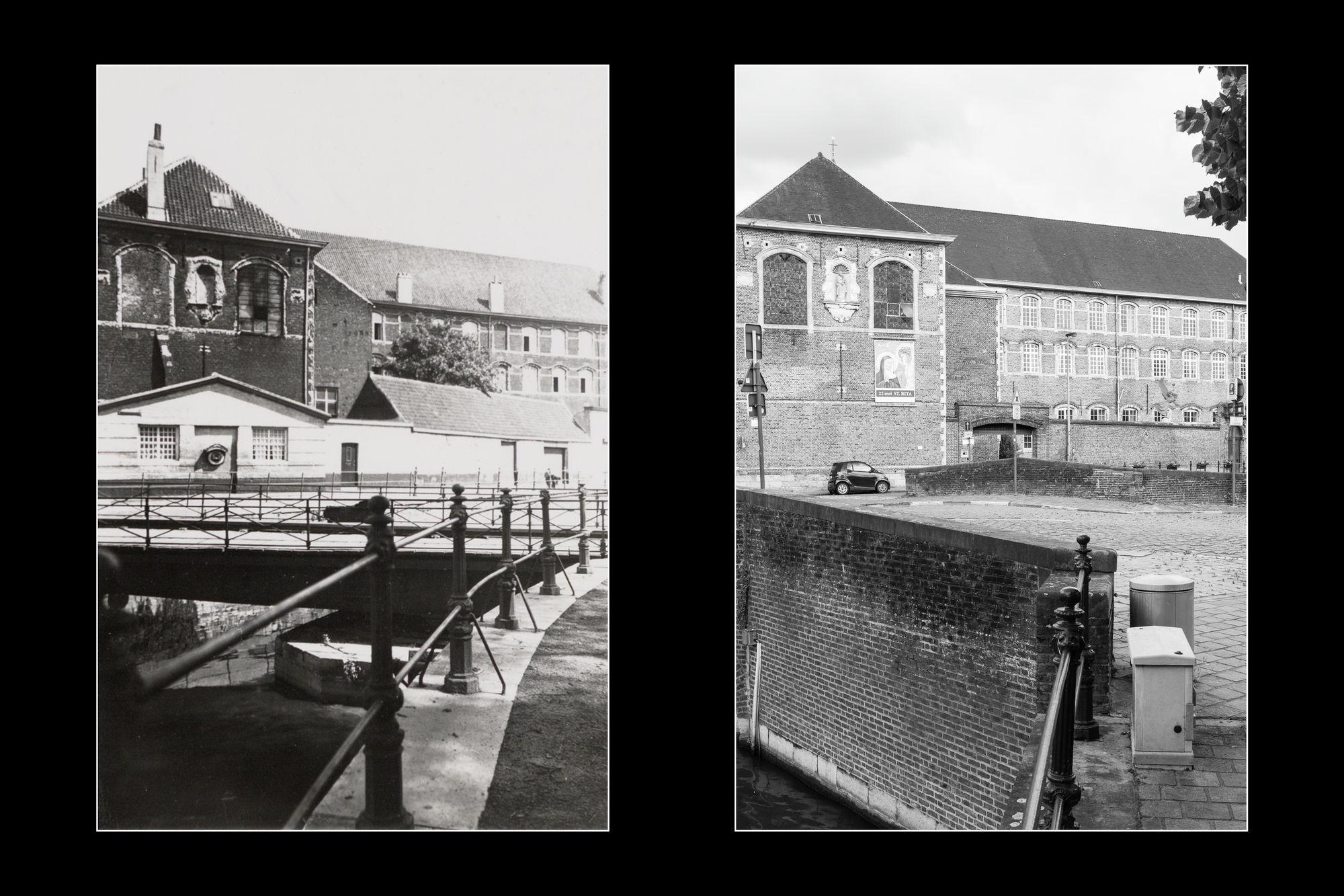 Gent: Academiebrug, met zicht op Augustijnenklooster