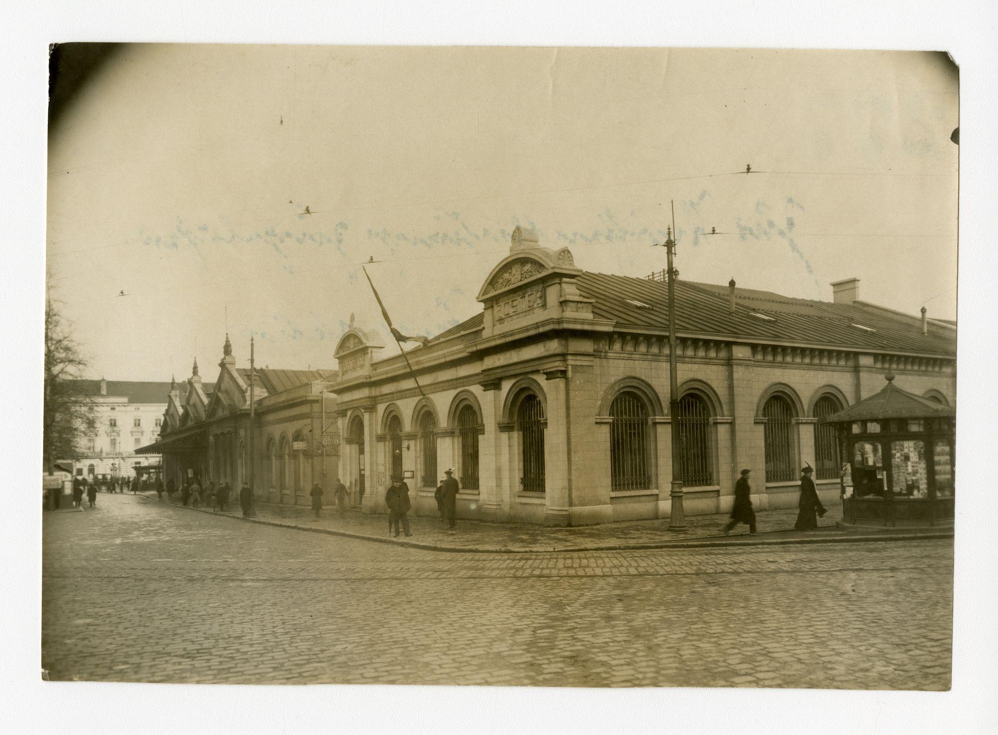 Gent: Statiestraat (Woodrow Wilsonplein): Zuidstation, 1915-1916