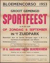 Bloemencorso 1953, Sportfeest (grootgemengd), in 't  Zuidpark, Gent, zondag 6 september 1953