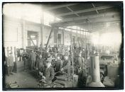 Gent: Woodrow Wilsonplein: Zuidstation: Belagerungs-Artillerie-Werkstatt (werkplaats voor belegeringsartillerie) van het Duitse leger, 1915-1916