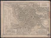 Kaart van Gent, Tessaro, 1854