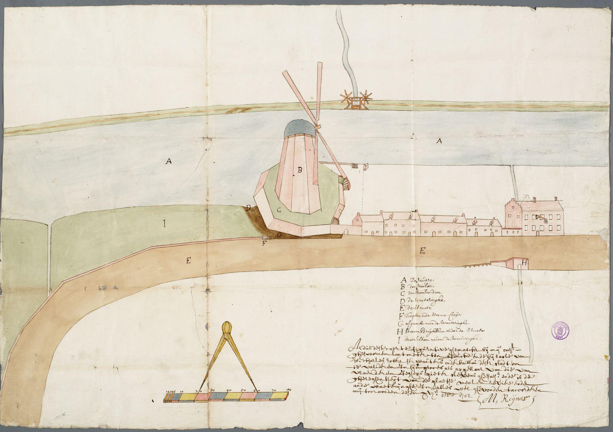 Gent: Meulesteedsesteenweg, 1785: opstand gevel