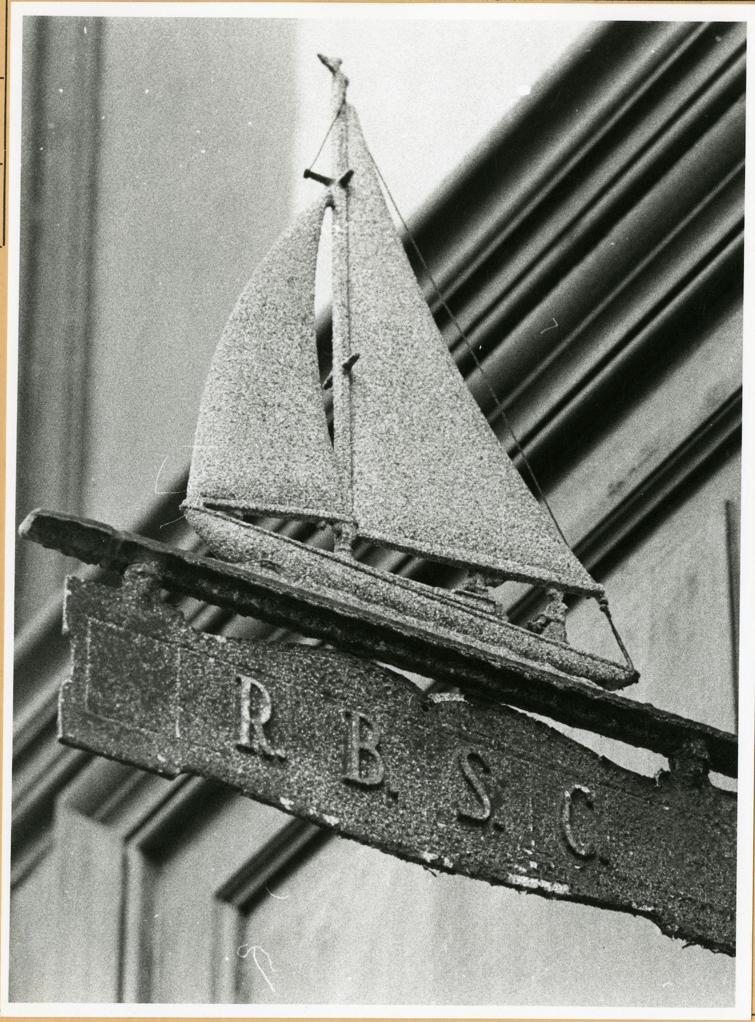 Gent: Drabstraat 12A: uithangbord: R.B.S.C.