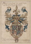 Wapen van Filips de Goede (1396-1467), hertog van Bourgondië, met keten van de ridderorde van het Gulden Vlies