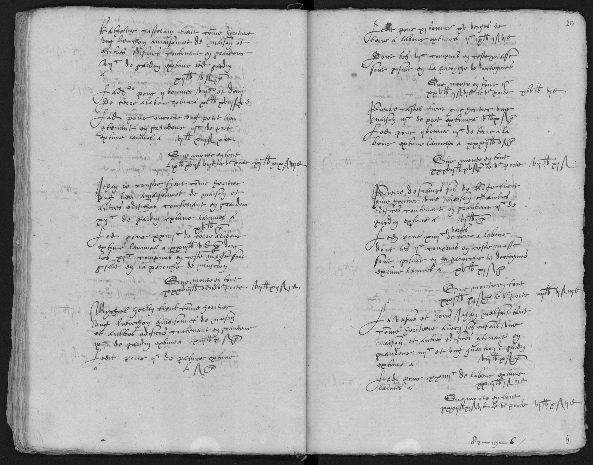 Kohier van de 5de penning in Luingne (Lowingen) (kasselrij van Kortrijk), 1577
