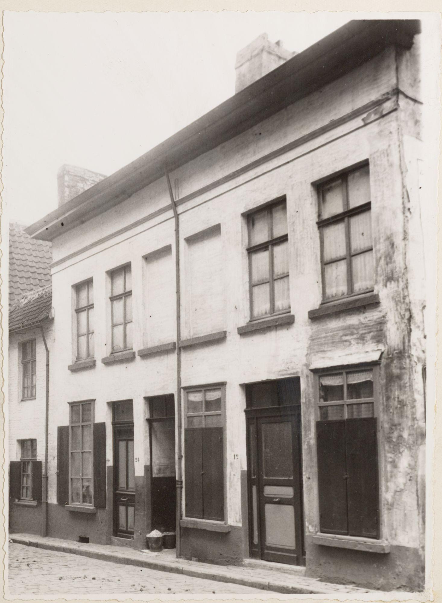 Gent: Veerstraat (nu Veermanplein), januari 1940