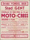 Moto-Cross, Stad Gent, Gebuurte Dekenij St. Theresia Brugsepoort, zondag 23 juli 1950, te 15 uur