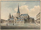 Gent: Vlasmarkt en Sint-Jacobskerk (zuidgevel)