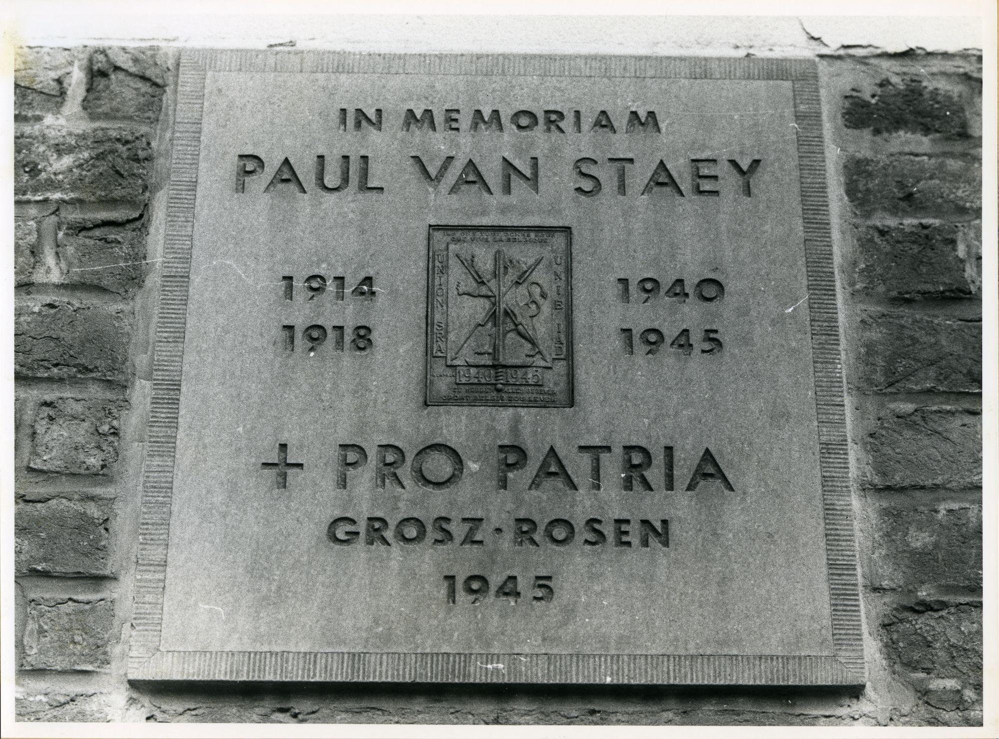 Gent: Voskenslaan 67: Gedenksteen