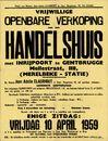Vrijwillige openbare verkoop van een handelshuis te Gentbrugge, Mellestraat, nr.118, (Merelbeke - Statie), Gent, 10 april 1959