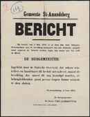 Gemeente St-Amandsberg, Bericht.
