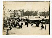 Gent: Vrijdagmarkt: wekelijkse markt, winter 1915-1918