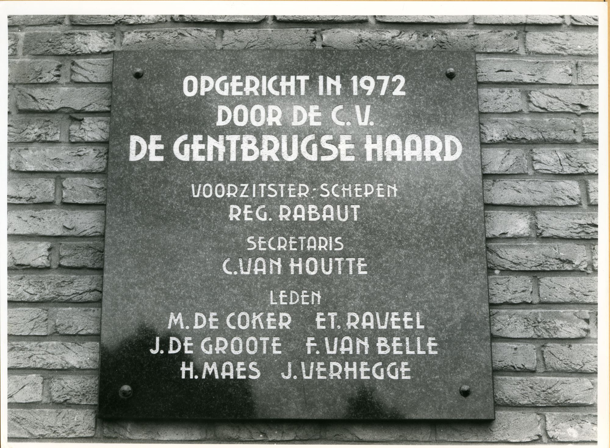 Gentbrugge: Robiniadreef 38: Gedenksteen, 1979