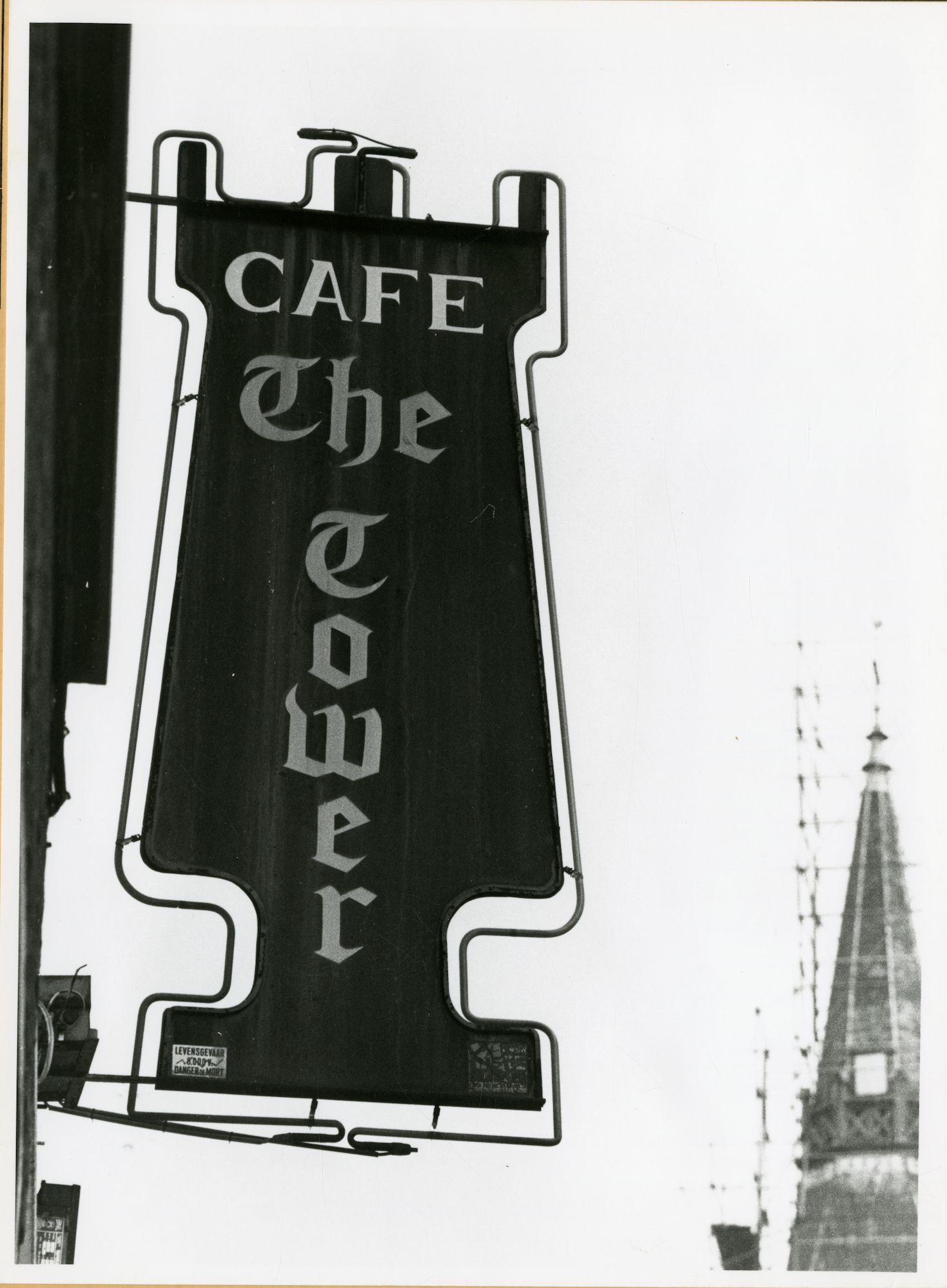 Gent: Bevrijdingslaan 58: Café The Tower: uithangbord, 1979