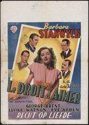 My Reputation   Le droit d'aimer   Recht op liefde, [Gent], juni 1947