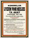 Koninklijk Lyceum voor meisjes te Gent, Schooljaar 1959-1960