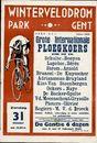 Wintervelodrom, Grote Internationale Ploegkoers, zondag 31 oktober 1948, om 14.30u. Park Gent